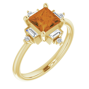 yellow citrine ring