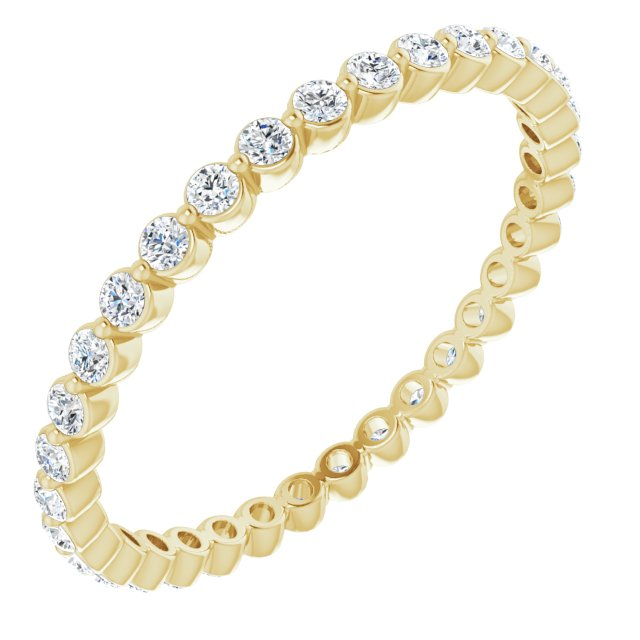 14K Yellow 3/8 CTW Diamond Eternity Band Size 5