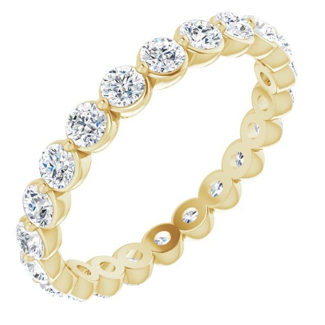 14K Yellow 1 1/3 CTW Diamond Eternity Band Size 7