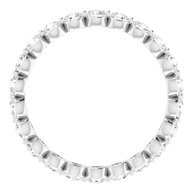 14K White 1 1/3 CTW Diamond Eternity Band Size 7