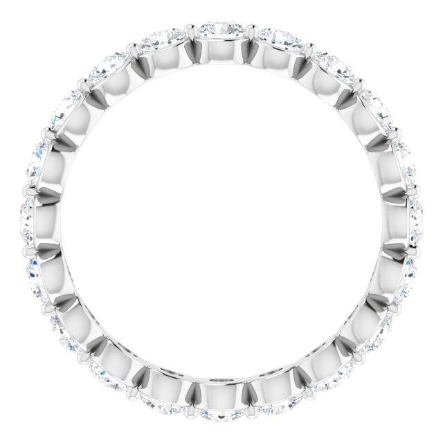14K White 1 1/5 CTW Diamond Eternity Band Size 4.5