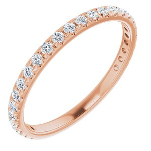 14K Rose 1/3 CTW Diamond French-Set Anniversary Band