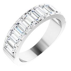 Channel Set Baguette Ring