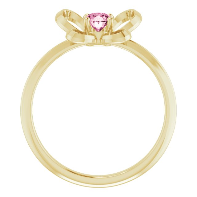 14K Yellow 4x3 mm Oval October Youth Butterfly Birthstone Ring