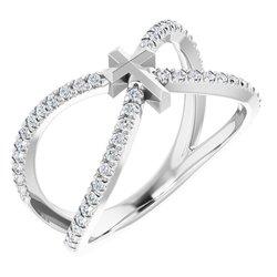 French-Set Cross Ring