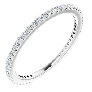 14K White 1/3 CTW Diamond Stackable Ring Size 6