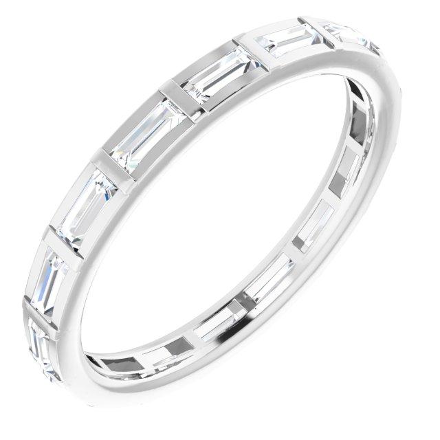 14K White 1/2 CTW Diamond Eternity Band Size 4