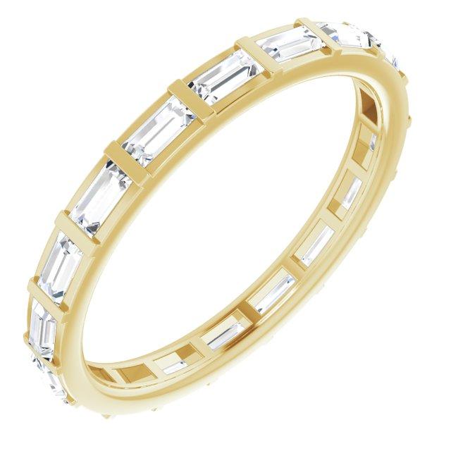 14K Yellow 1 CTW Diamond Eternity Band Size 5.5