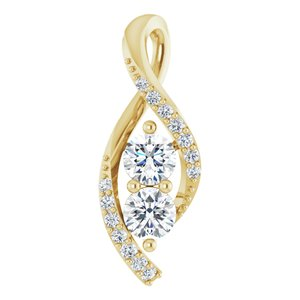 14K Yellow 1/5 CTW Diamond Pendant