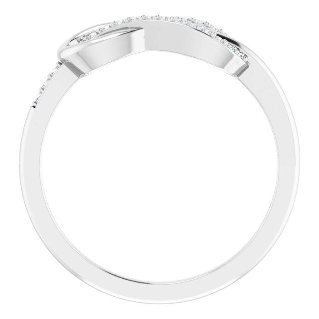 14K White 1/10 CTW Natural Diamond Infinity-Inspired Ring