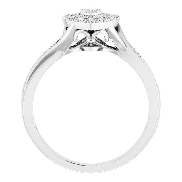 Sterling Silver Cubic Zirconia Criss-Cross Heart Ring Size 7