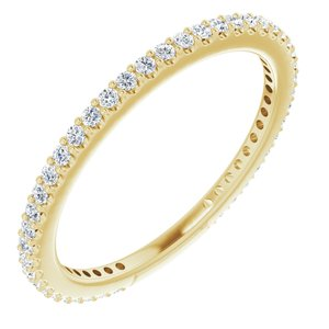 14K Yellow 1/3 CTW Diamond Stackable Ring Size 4