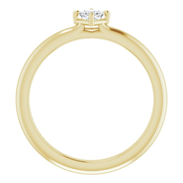 14K Yellow 1/6 CTW Diamond Solitaire Ring