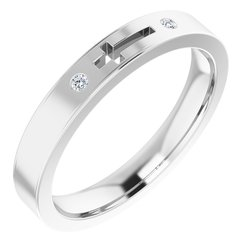 Pierced Cross Stackable Ring