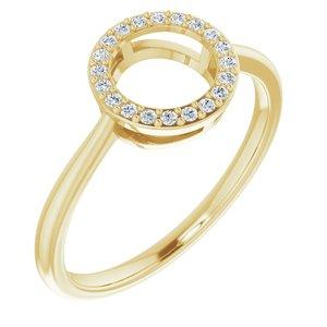 14K Yellow 1/10 CTW Diamond Circle Ring