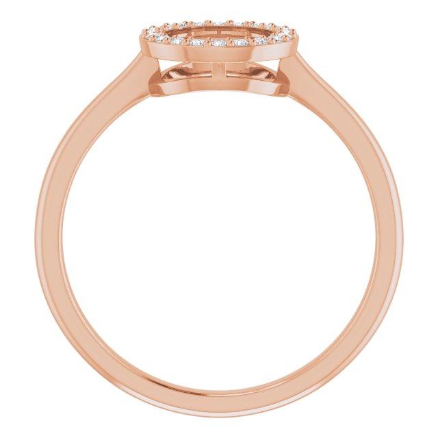 14K Rose 1/10 CTW Natural Diamond Circle Ring