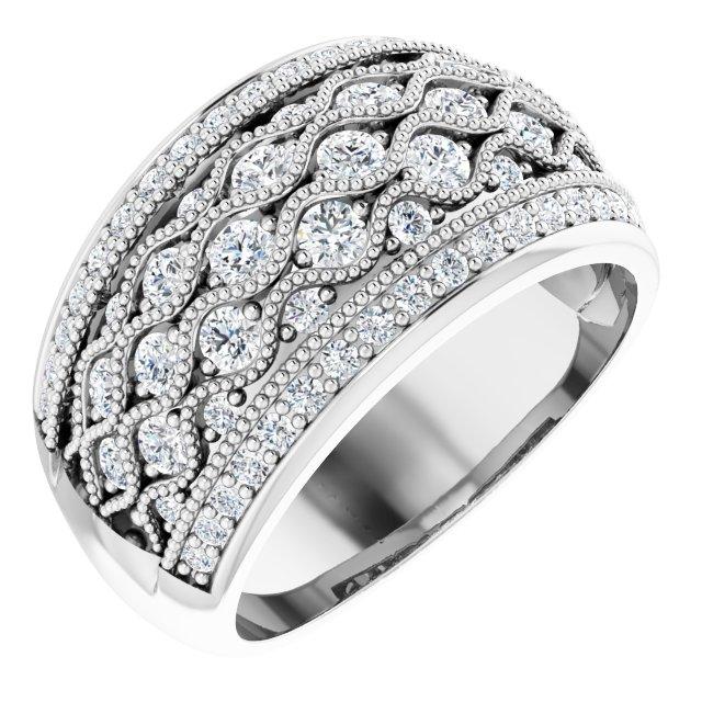 14K White 1 CTW Diamond Ring
