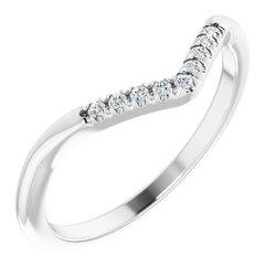 French-set Halo-Style Engagement Ring or Band