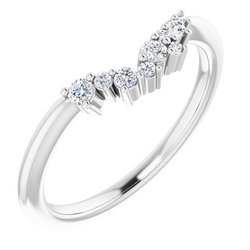 124036 / Band / Neosadený / Sterling Silver / round / Polished / Matching Band Mounting