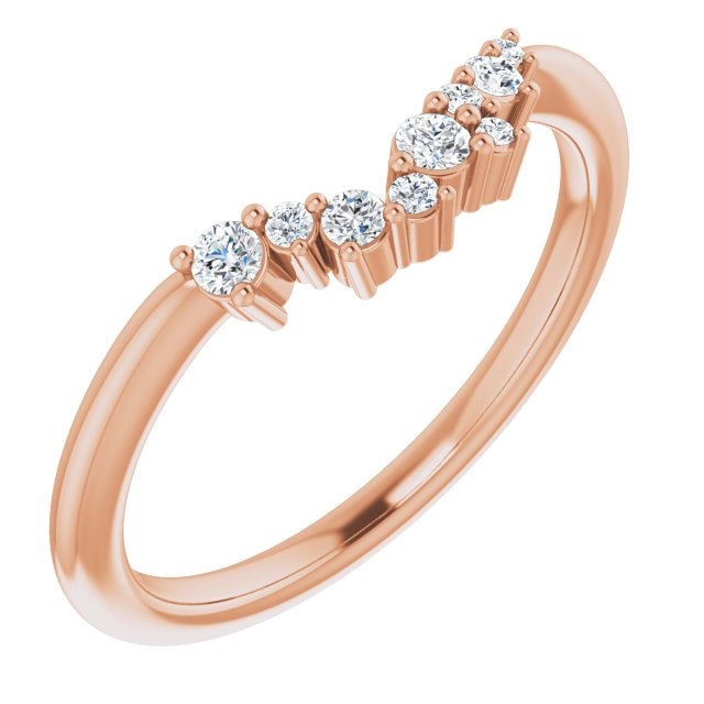 14K Rose  1/8 CTW Diamond Matching Band