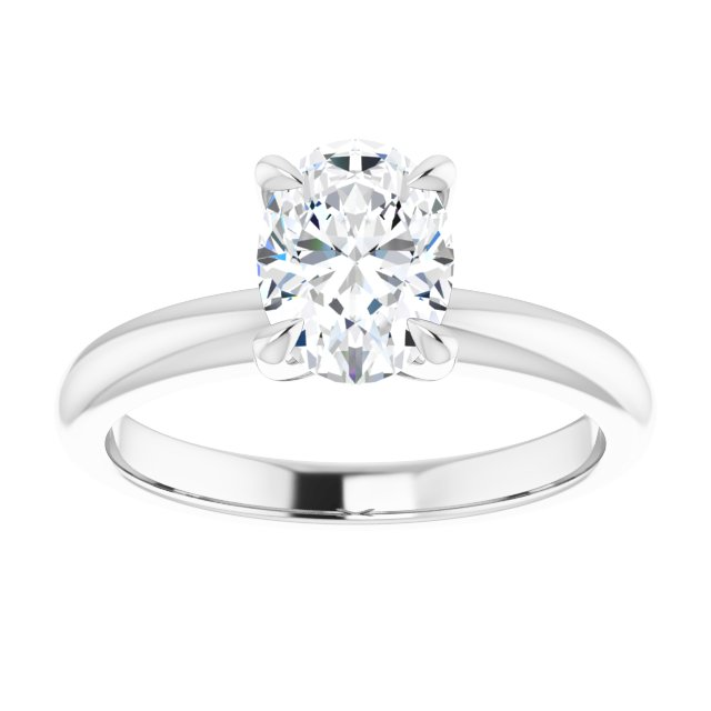 (Approx) 1 Carat Solitaire Diamond Ring 14k White Gold Setting