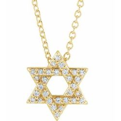 Star of David Necklace or Pendant