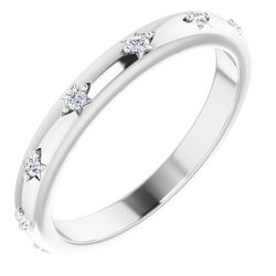 124218 / Neosadený / Sterling Silver / round / 1.5 Mm / 7 / Polished / Eternity Band Mounting