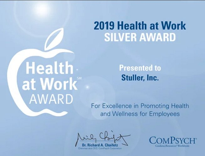 2019 Health at work Award