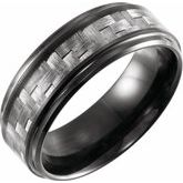 Beveled Edge Band with Carbon Fiber Inlay