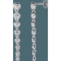 "14K Yellow .0075 CTW Diamond Moon Phase Bar 16-18"" Necklace"