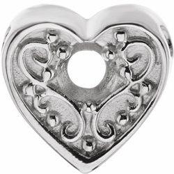 Heart Slide Pendant pre Mamu Mounting
