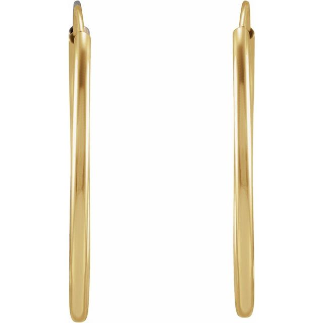 14K Yellow 20 mm Flexible Endless Huggie Earrings