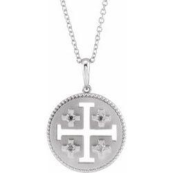 Jerusalem Cross Necklace or Pendant