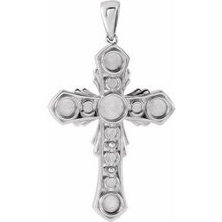 Vintage-Inspired Cross Necklace or Pendant