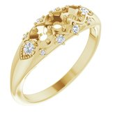 Accented Three-Stone Ring