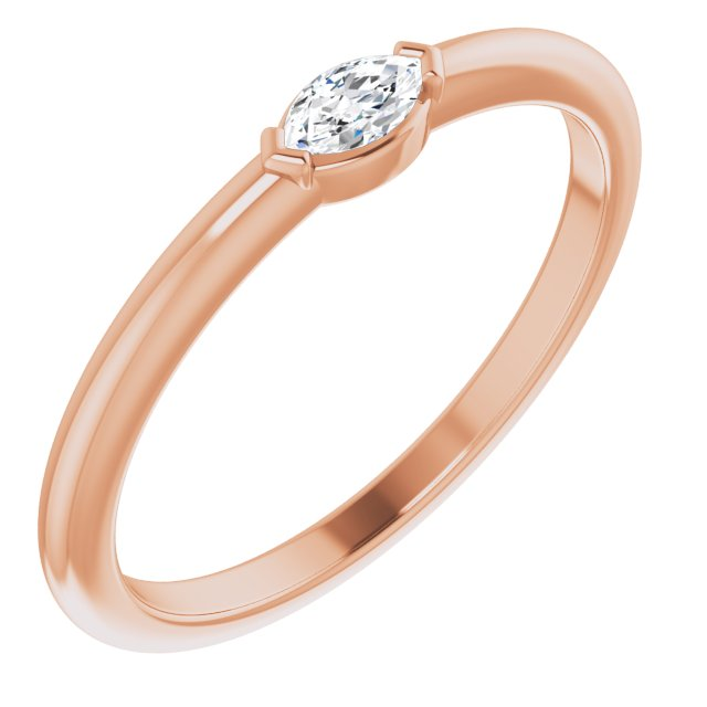 14K Rose 1/8 CTW Diamond Solitaire Ring