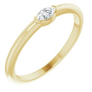 14K Yellow 1/8 CTW Diamond Solitaire Ring