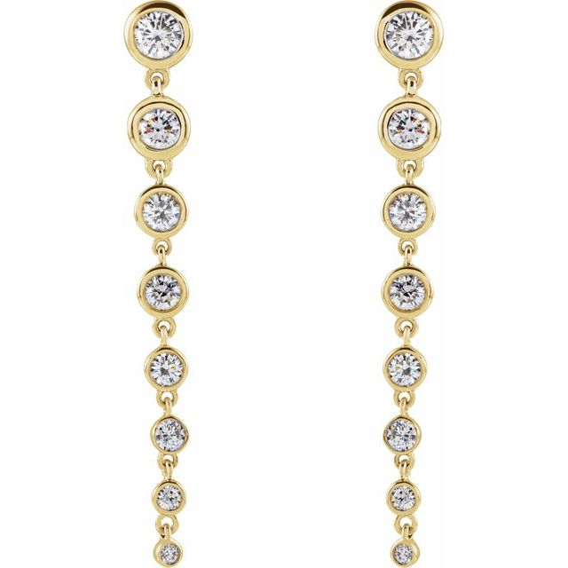 14K Yellow 1 3/4 CTW Lab-Grown Diamond Earrings