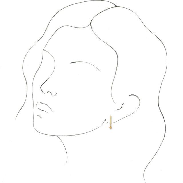 14K Yellow Citrine Bar Earrings