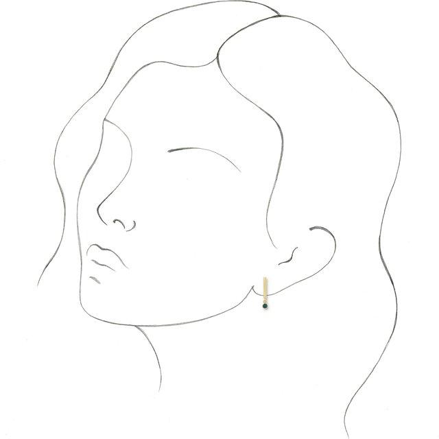14K Yellow Alexandrite Bar Earrings