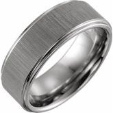 Tungsten Rounded Edge Band
