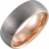 Half Round Band with Satin Finish