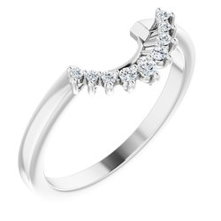 Floral-Inspired Halo-Style Engagement Ring or Band