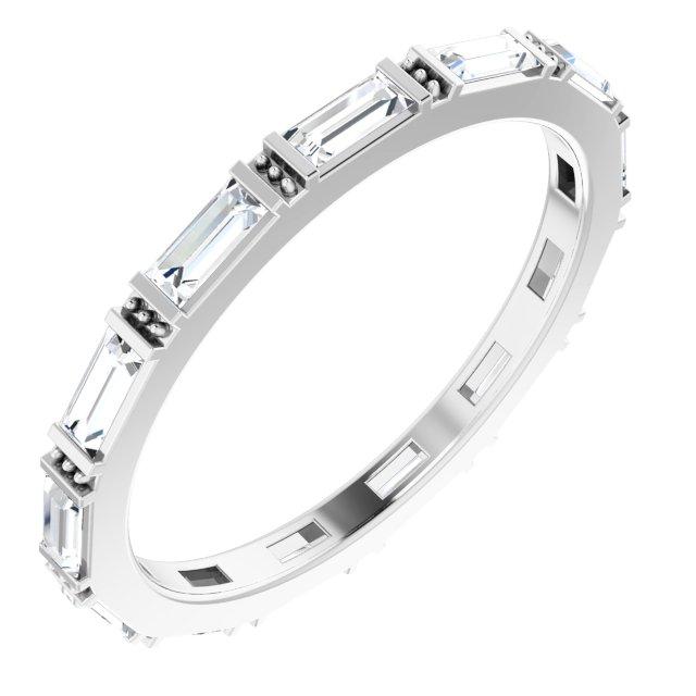 14K White 5/8 CTW Lab-Grown Diamond Eternity Band Size 7