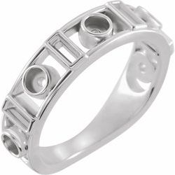 Accented Bezel Set Cabochon Ring