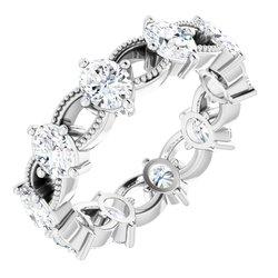 122061 / 18Kt X1 White / Engagement / Mounting / Cushion / 05.00 Mm / Polished / Engagement Ring Mounting