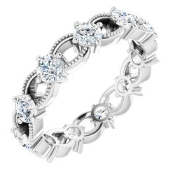 122054 / 18Kt Palladium White / Engagement / Mounting / Square / 07.00 Mm / Polished / Engagement Ring Mounting