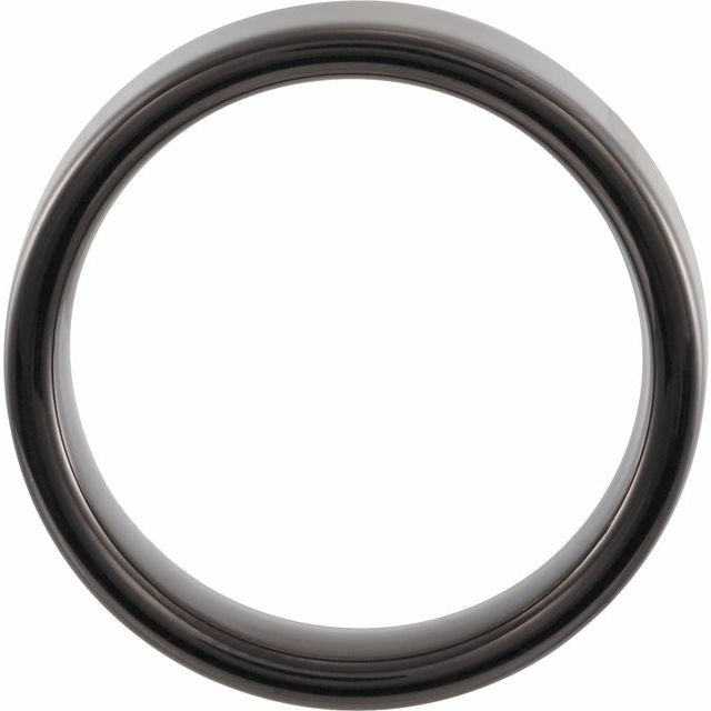 Black PVD Tungsten 6 mm Flat Band Size 6