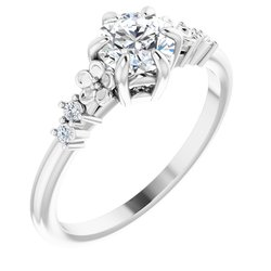 Accented Engagement Ring or Band