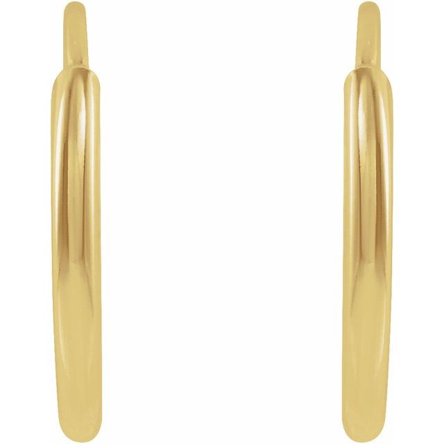 14K Yellow 10 mm Flexible Endless Huggie Earrings